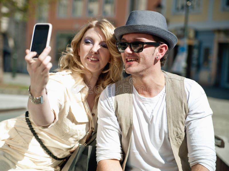 O par faz o retrato de auto imagem de stock