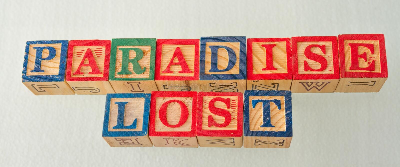 O paraíso do termo perdeu indicado visualmente fotografia de stock royalty free