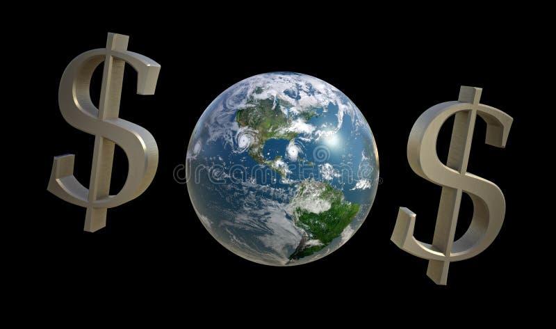 $O$ para la tierra del planeta stock de ilustración