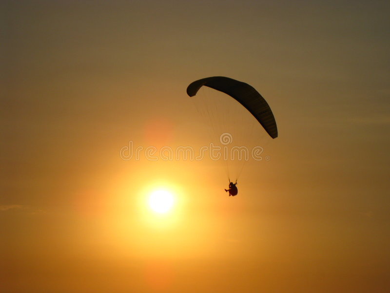 O parachutist imagem de stock royalty free