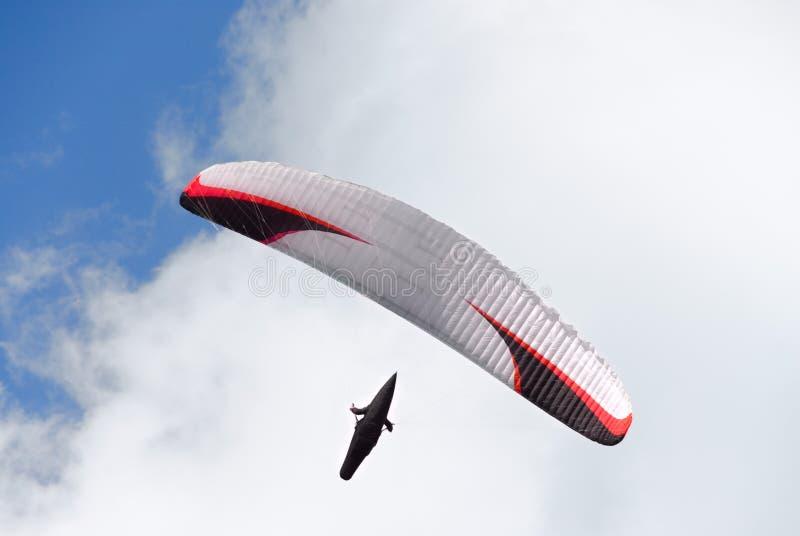 O parachutist fotografia de stock royalty free