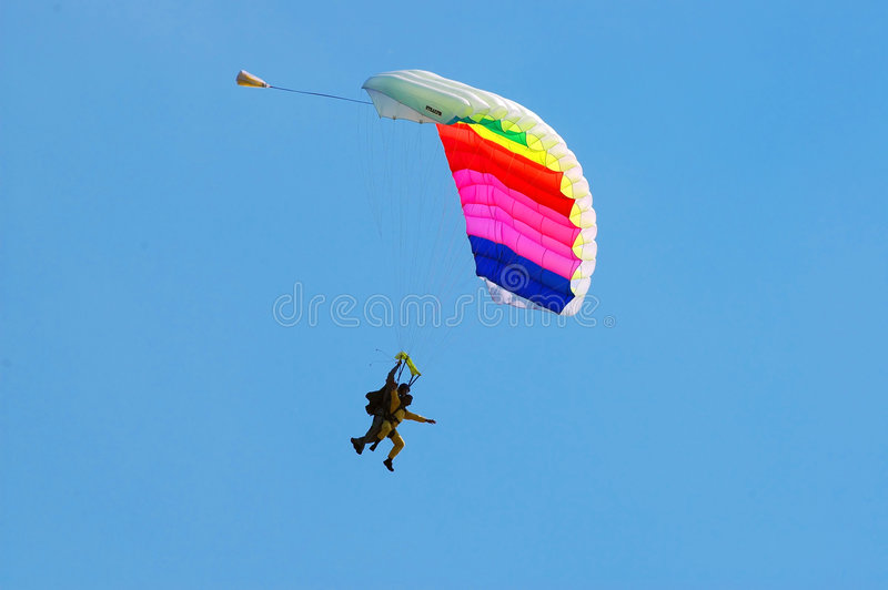 O parachutist foto de stock