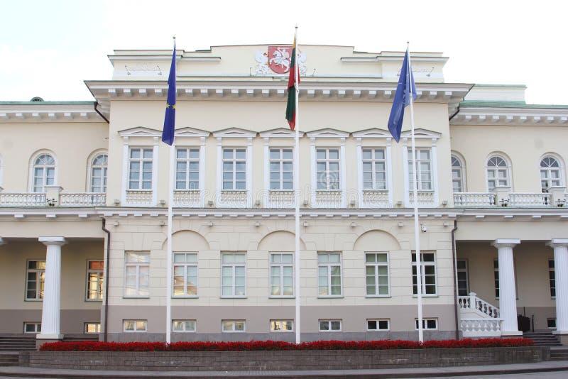 O parlamento abriga em Vilnius, Lituânia foto de stock