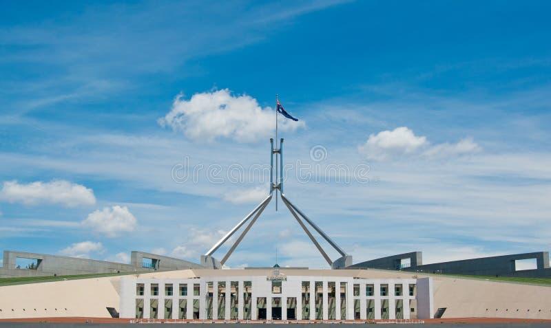 O parlamento australiano abriga fotografia de stock