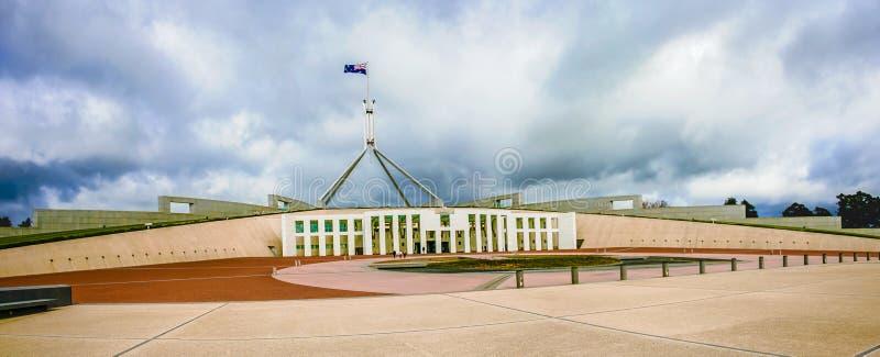 O parlamento australiano abriga imagens de stock