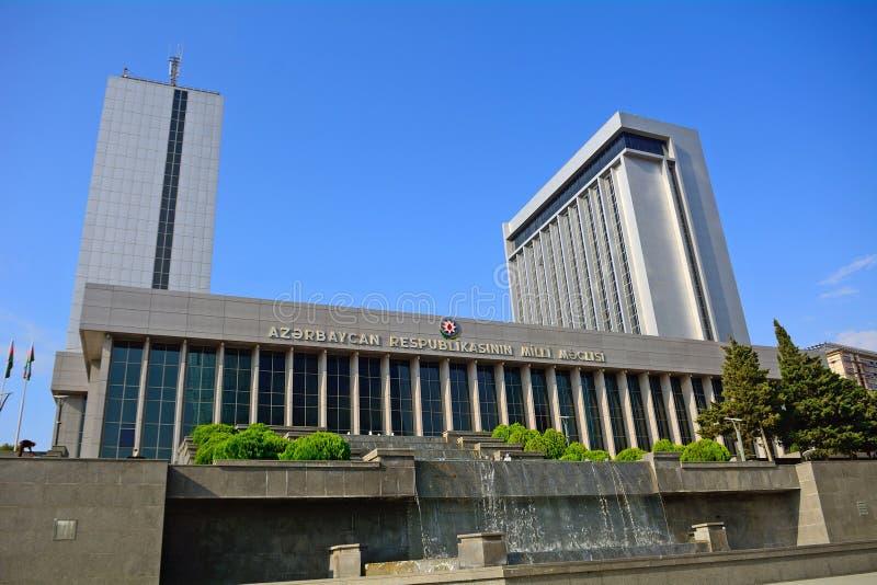 O parlamento, Baku, Azerbaijão fotografia de stock