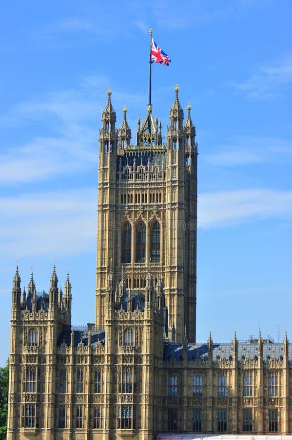 O parlamento britânico abriga em Londres fotografia de stock