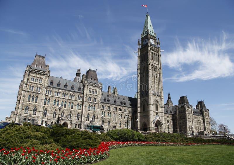 O parlamento canadense fotos de stock royalty free