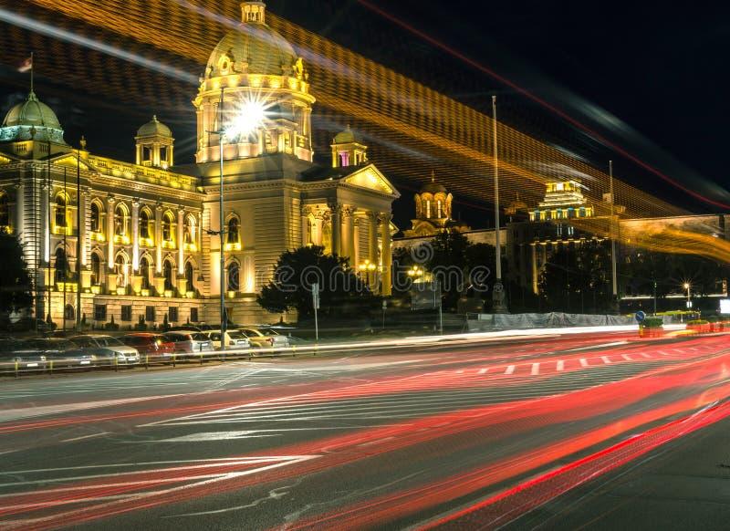O parlamento da república da Sérvia fotografia de stock royalty free