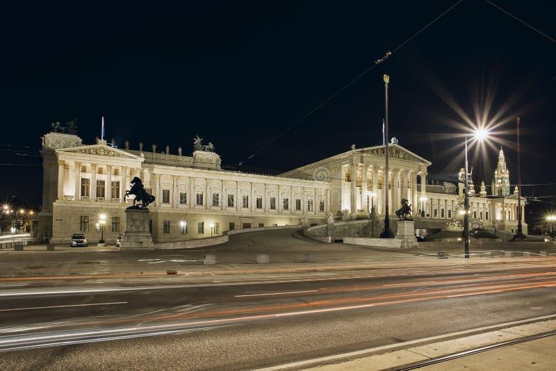 O parlamento de Áustria - marco em Viena fotos de stock royalty free