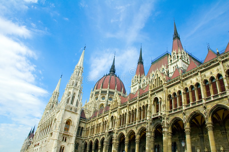 O parlamento de Budapest que constrói 2 fotos de stock royalty free