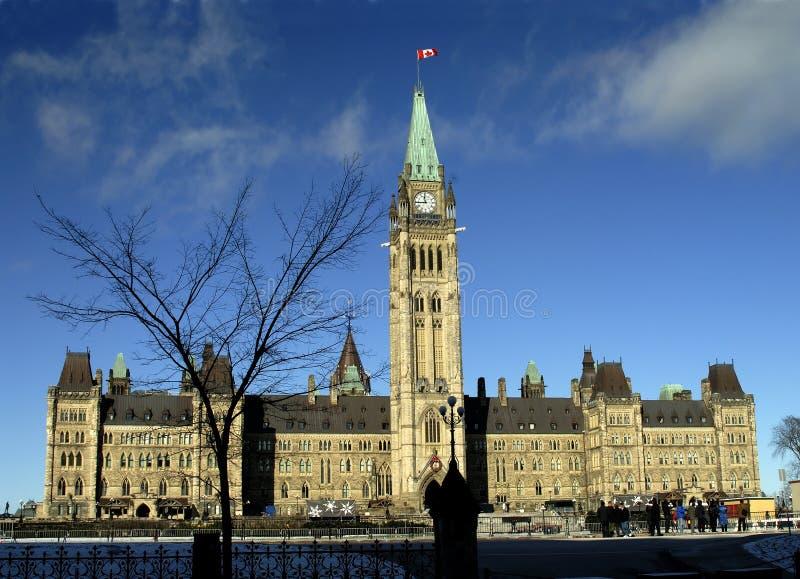 O parlamento de Canadá fotografia de stock