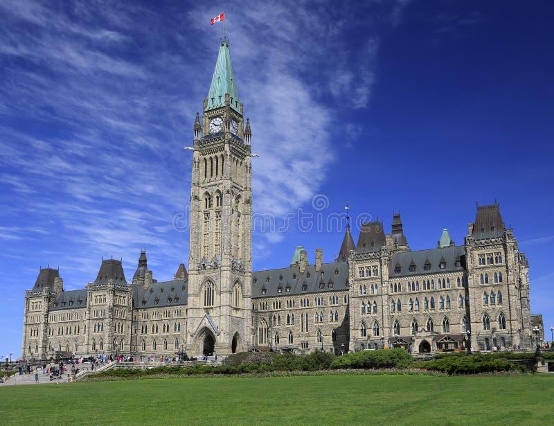 O parlamento de Canadá na mola imagens de stock