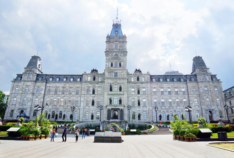 O parlamento de Quebeque fotos de stock