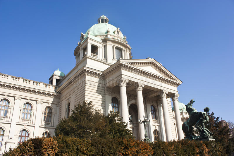 O parlamento de Serbia fotografia de stock royalty free