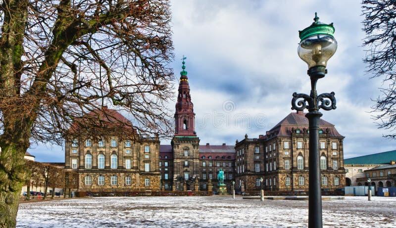 O parlamento dinamarquês Christiansborg, Copenhaga fotografia de stock