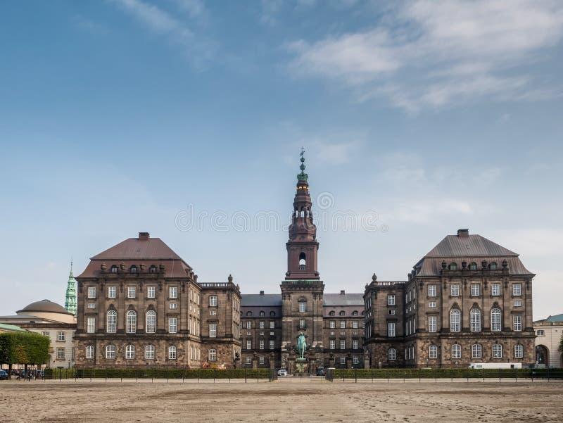 O parlamento dinamarquês Christiansborg, Copenhaga foto de stock