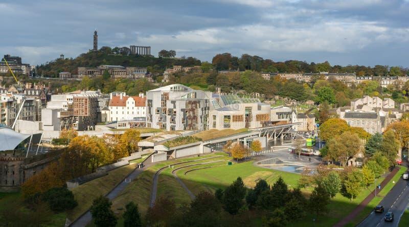 O parlamento escocês Holyrood, Edimburgo, Escócia imagens de stock royalty free