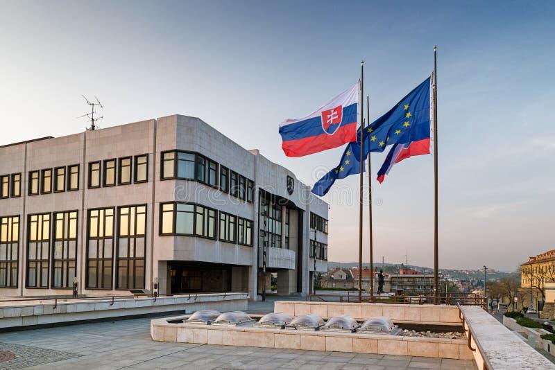 O parlamento eslovaco foto de stock