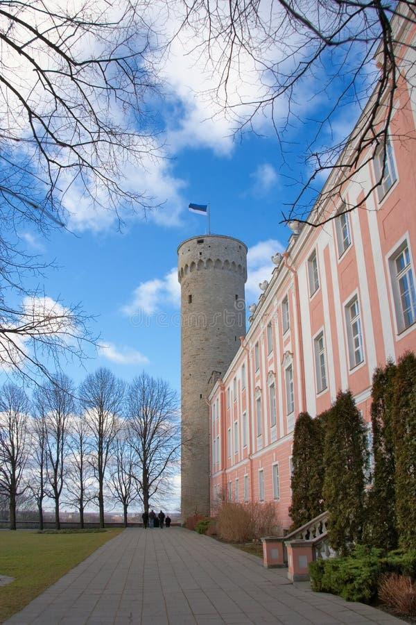 O parlamento estónio imagens de stock