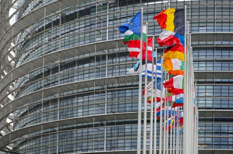 O Parlamento Europeu em Strasbourg fotos de stock