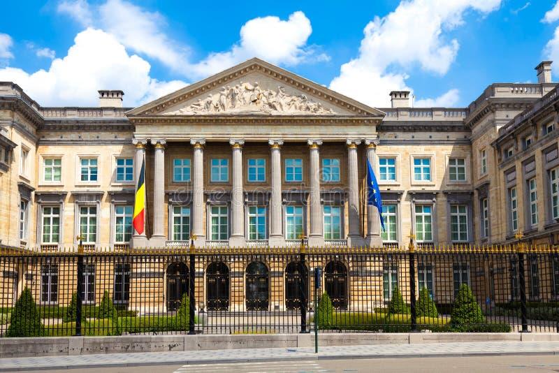 O parlamento federal belga, Bruxelas imagens de stock