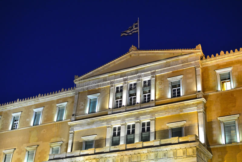 O parlamento grego foto de stock