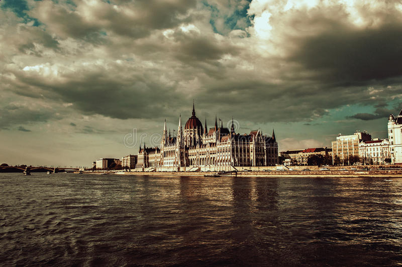 O parlamento húngaro fotos de stock