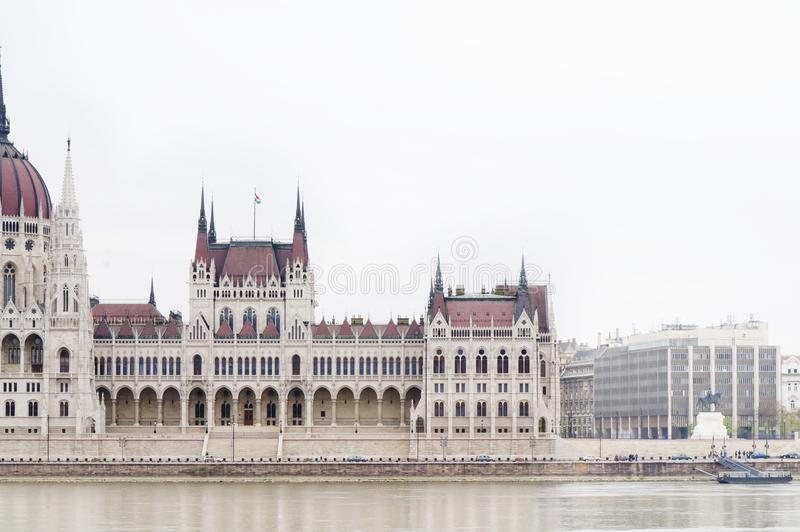 O parlamento húngaro, Budapest, Hungria fotografia de stock