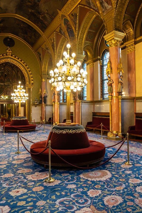 O parlamento húngaro em Budapest fotografia de stock