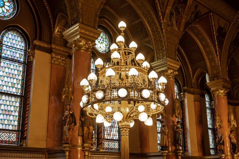 O parlamento húngaro em Budapest imagem de stock royalty free