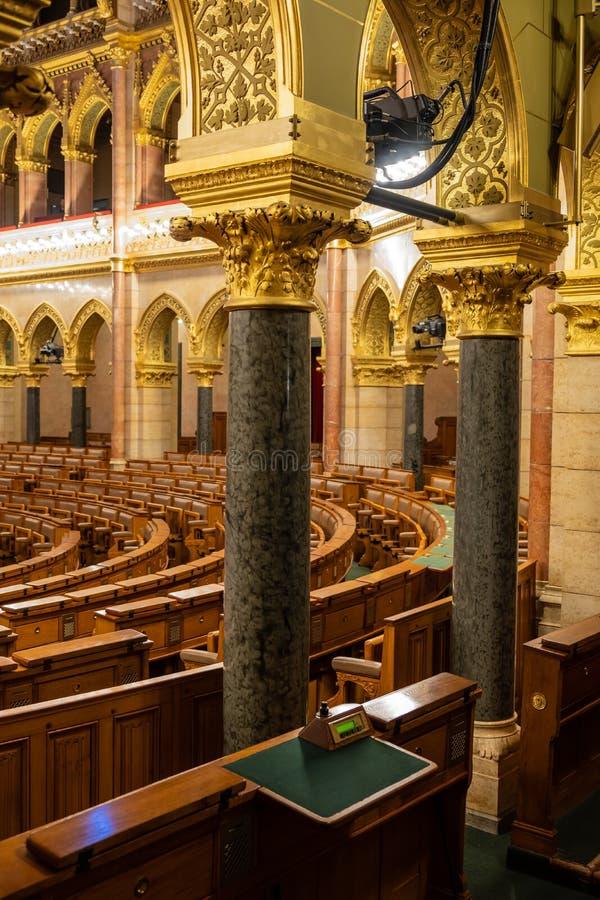 O parlamento húngaro em Budapest fotos de stock royalty free