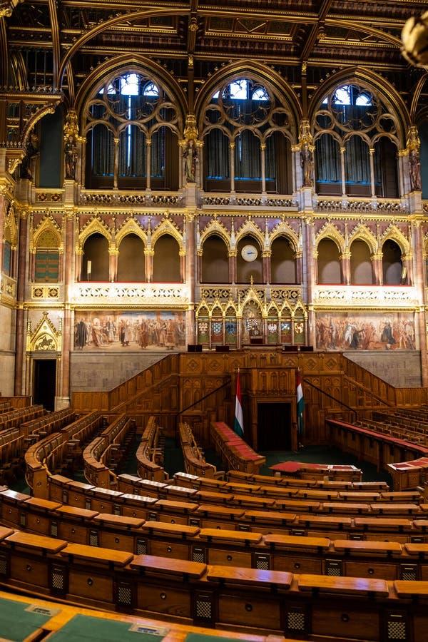 O parlamento húngaro em Budapest foto de stock royalty free