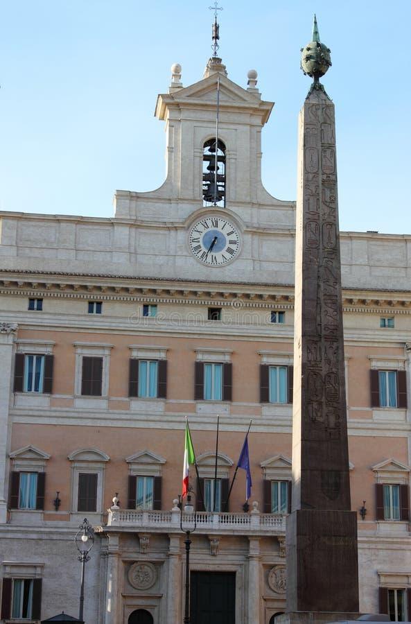 O parlamento italiano imagem de stock