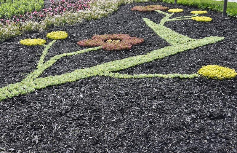 O parlamento jardina decoração de Cidade de Quebec em Canadá imagem de stock