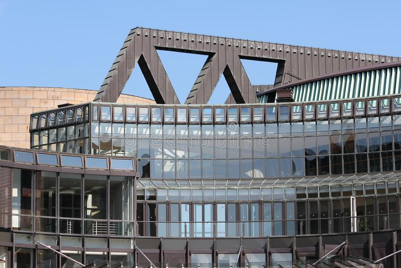 O parlamento norte de Reno-Westphalia foto de stock