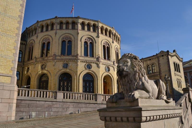 O parlamento norueguês imagem de stock royalty free