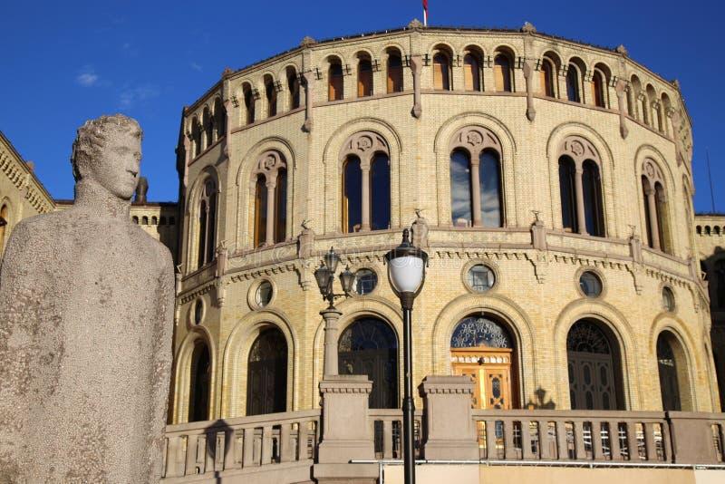 O parlamento norueguês, Oslo, Noruega imagem de stock