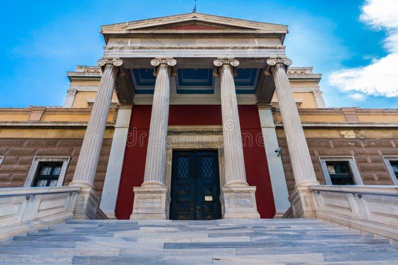 O parlamento velho abriga em Atenas Grécia O parlamento velho abriga na rua de Stadiou em Atenas, abrigada o parlamento grego ent foto de stock royalty free