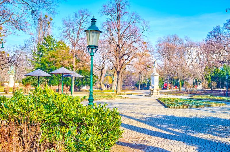O parque da cidade de Viena, Áustria fotos de stock