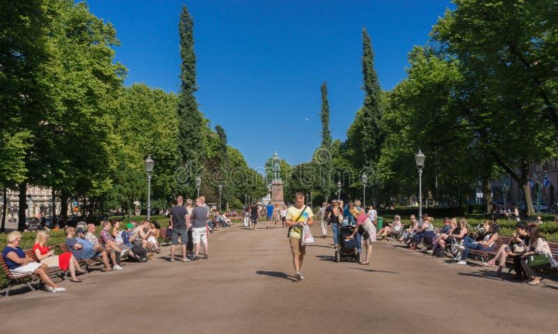 O parque da esplanada fotos de stock