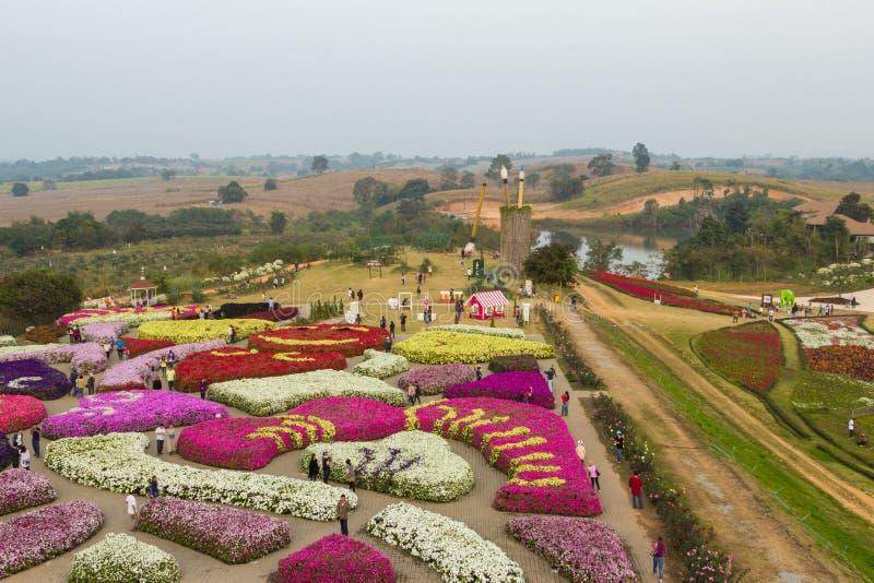 O parque da flora da vista superior fotos de stock royalty free
