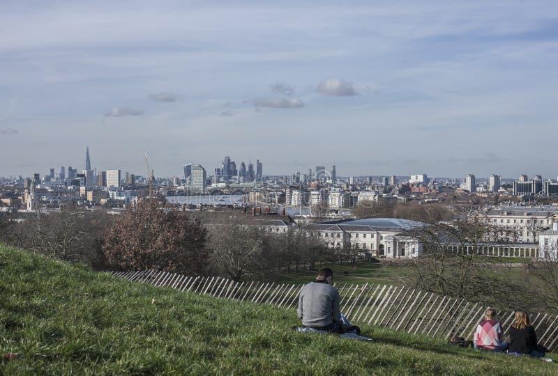 O parque de Greenwich - uma vista de Londres foto de stock royalty free