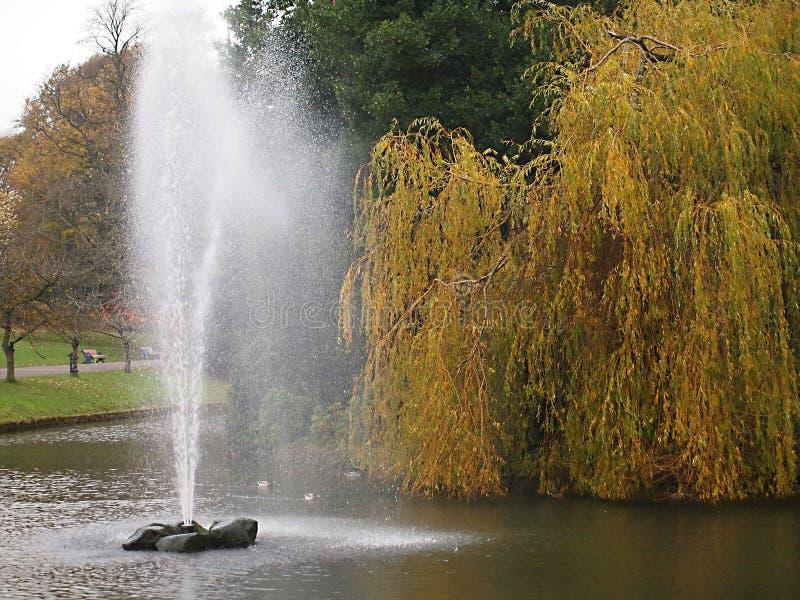 O parque de Sefton é um parque público no sul Liverpool, Inglaterra fotografia de stock