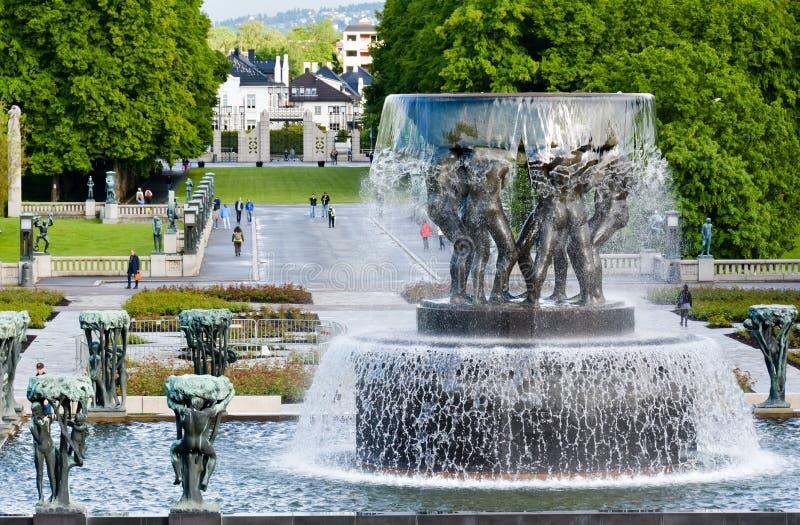 O parque de Vigeland, Oslo, Noruega fotos de stock royalty free