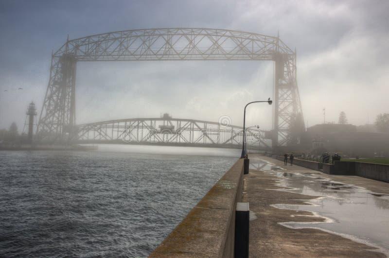 O parque do canal é um destino popular do turista em Duluth, Minnesota no Lago Superior fotos de stock