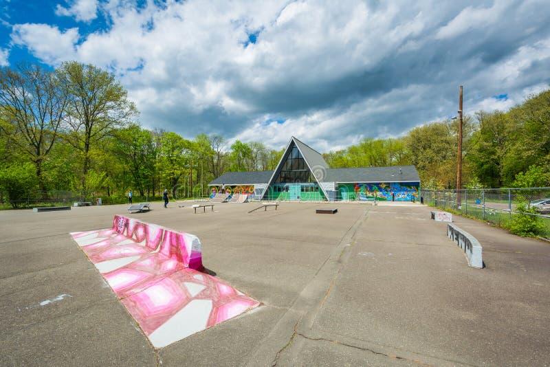 O parque do patim de Edgewood, em New Haven, Connecticut fotografia de stock royalty free