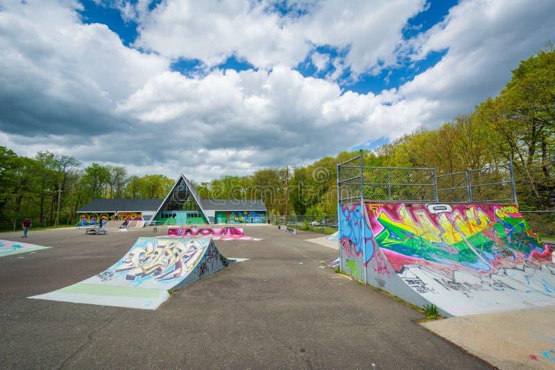 O parque do patim de Edgewood, em New Haven, Connecticut imagens de stock royalty free