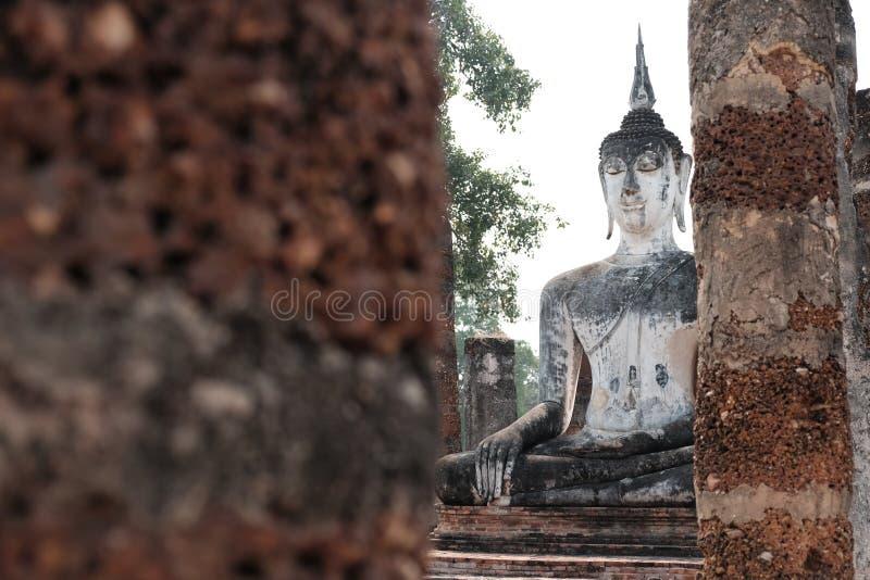 O parque histórico de Sukhothai fotos de stock