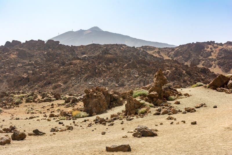 O parque nacional de Teide ocupa a área a mais alta da ilha de Tenerife nas Ilhas Canárias e na Espanha imagens de stock royalty free